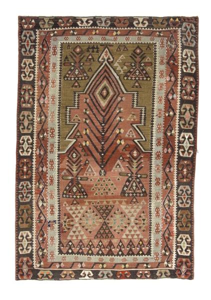 R8716 Vintage Turkish Kilim Rug