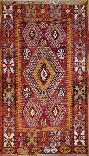 R8721 Vintage Turkish Kilim Rug