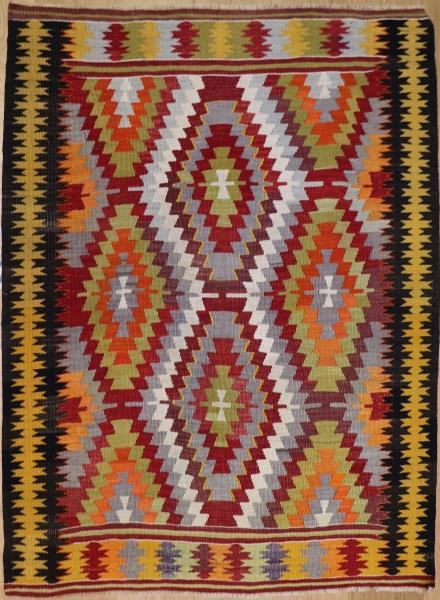 R8723 Vintage Turkish Kilim Rug
