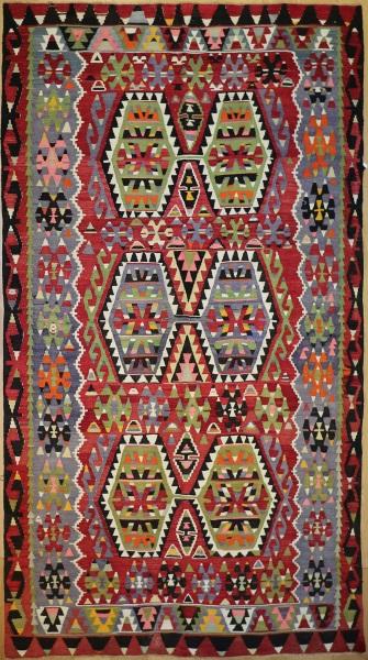R8725 Vintage Turkish Kilim Rug