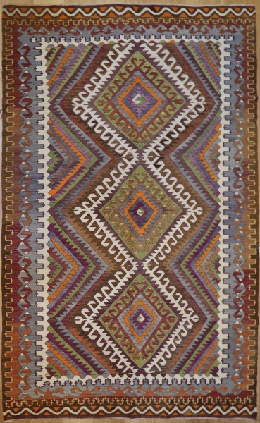 R8754 Vintage Turkish Kilim Rug