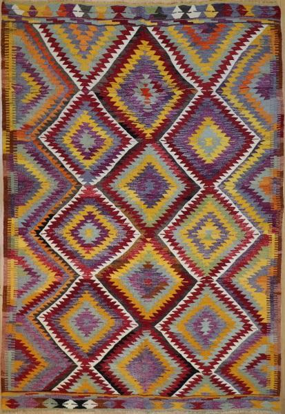 R8758 Vintage Turkish Kilim Rug