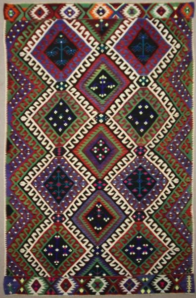 Vintage Turkish Kilim Rug R7853