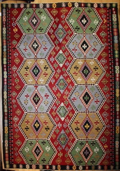 Vintage Turkish Kilim Rug R8069