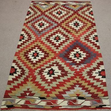 Vintage Turkish Kilim Rug R8708