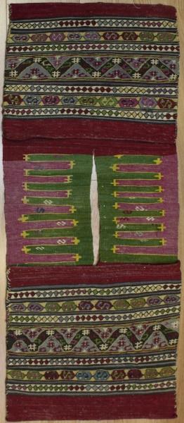 Vintage Turkish Kilim Rug Saddle Bag R7960