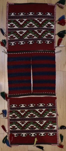 R8073 Vintage Turkish Kilim Rug Saddle Bags