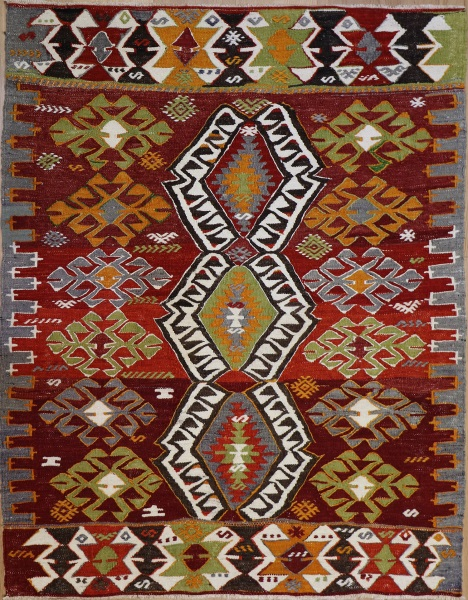 R8936 Vintage Turkish Kilim Rugs