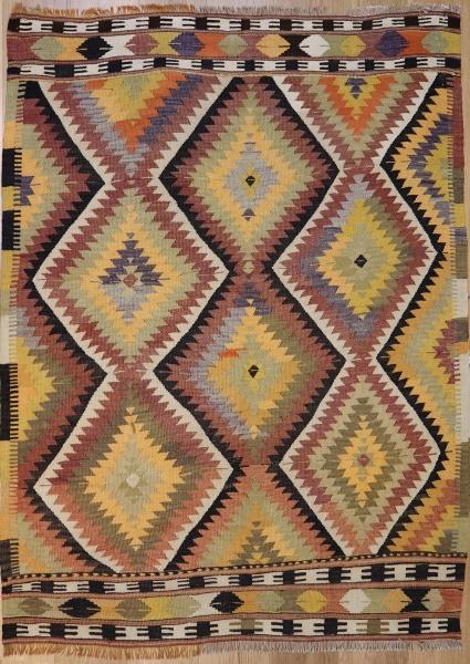 R3684 Vintage Turkish Kilim Rugs
