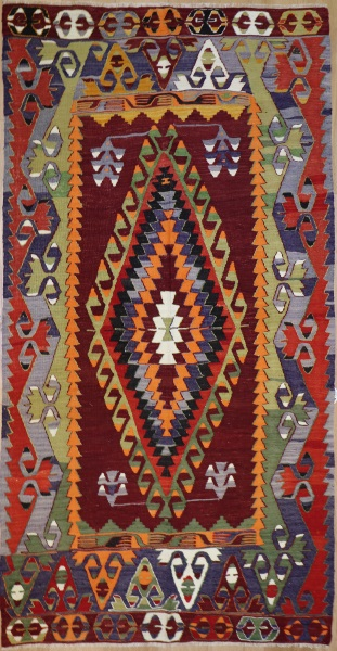 R8195 Vintage Turkish Kilim Rugs