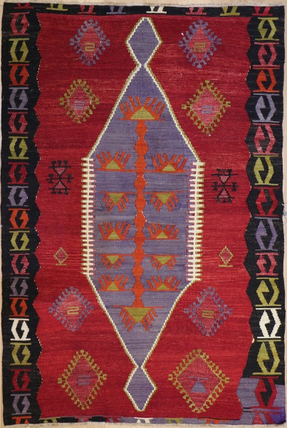 R8198 Vintage Turkish Kilim Rugs