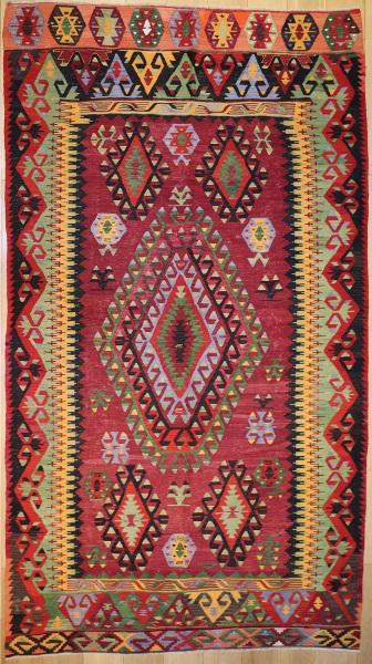 R8488 Vintage Turkish Kilim Rugs