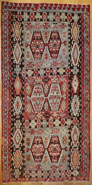 R7857 Vintage Turkish Kilim Rugs London