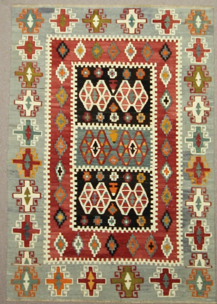 Vintage Turkish Kilim Rugs R7874