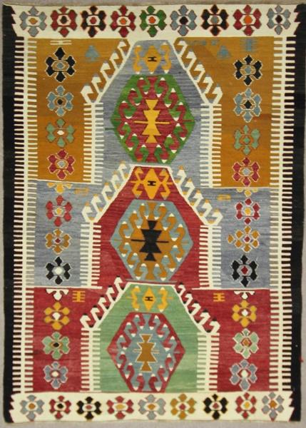 Vintage Turkish Kilim Rugs R7876
