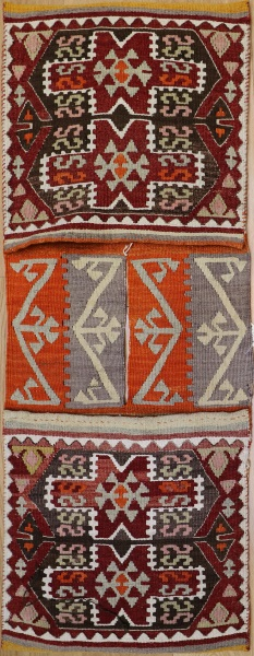 R5468 Vintage Turkish Kilim Saddle Bag