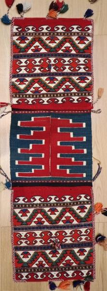R8076 Vintage Turkish Kilim Saddle Bag