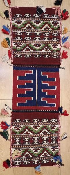 R8077 Vintage Turkish Kilim Saddle Bag