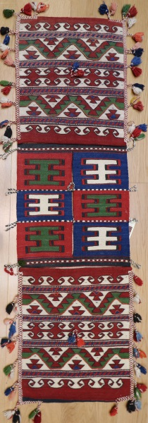Vintage Turkish Kilim Saddle Bag R8078