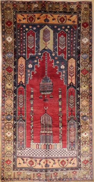 R165 Vintage Turkish Konya Carpet