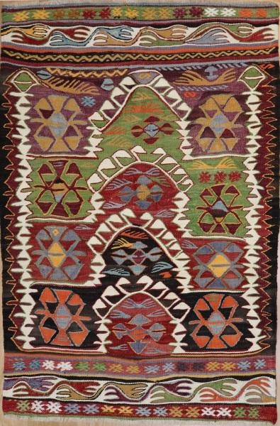 R7842 Vintage Turkish Konya Kilim Rug