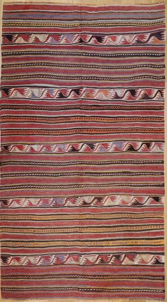 R7868 Vintage Turkish Konya Kilim Rugs