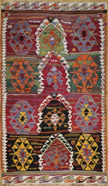 R7873 Vintage Turkish Konya Kilim Rugs