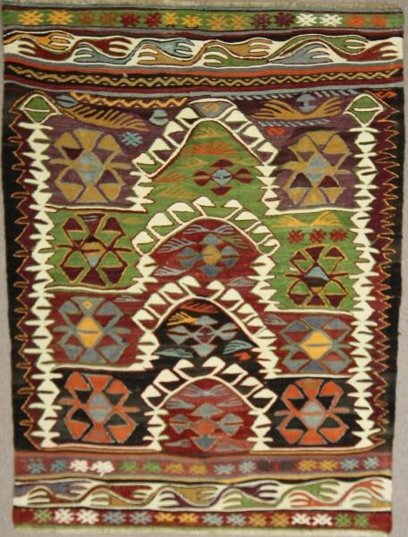 Vintage Turkish Konya Kilim Rugs R7842