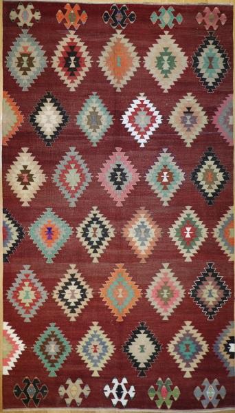 R9079 Vintage Turkish Koprubasi Kilim Rug