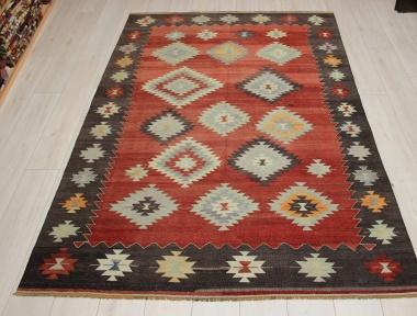 Vintage Turkish Koprubasi Kilim Rug R9083