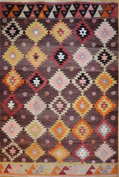 R9066 Vintage Turkish Koprubasi Kilim Rugs