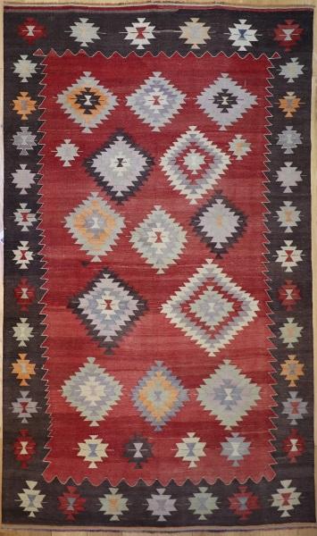 R9083 Vintage Turkish Koprubasi Kilim Rugs