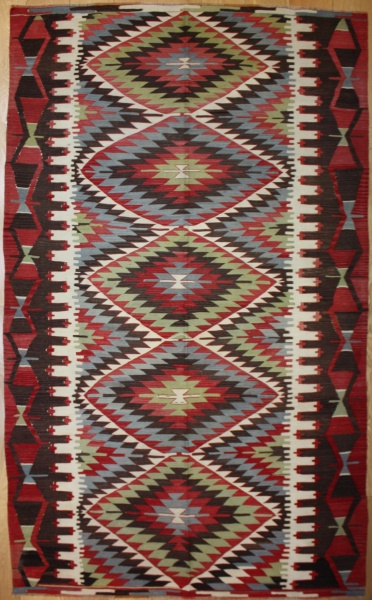 Vintage Turkish Kula Kilim Rug R8019