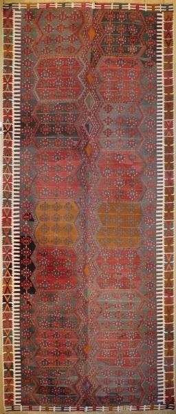 R7519 Vintage Turkish Large Kilim Rug