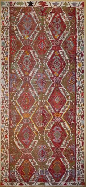 R8014 Vintage Turkish Large Kilim Rugs