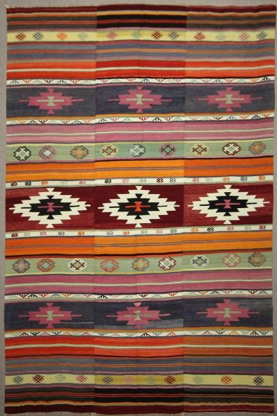 Vintage Turkish Large Kilim Rugs R7869