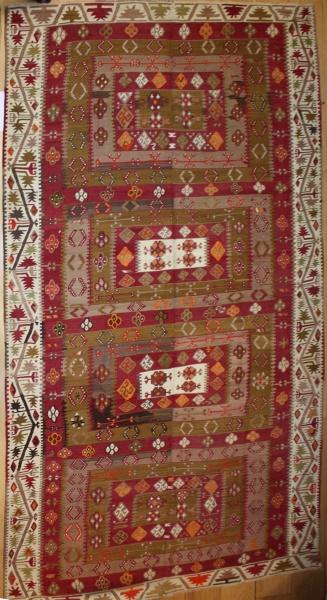 R8008 Vintage Turkish Large Kilim Rugs