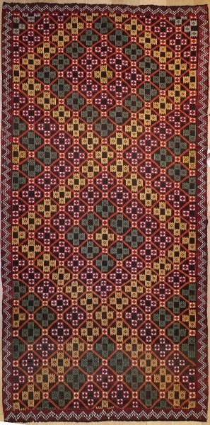 R7870 Vintage Turkish Mut Cicim Rug