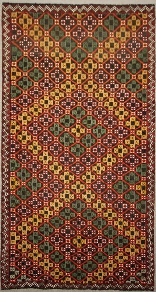 Vintage Turkish Mut Cicim Rugs R7870