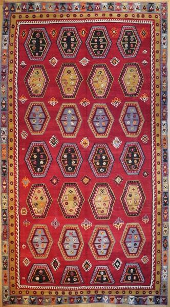 R8070 Vintage Turkish Sarkisla Kilim Rug