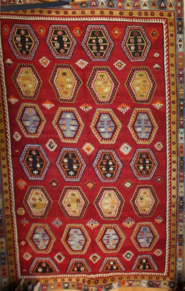 Vintage Turkish Sarkisla Kilim Rug R8070