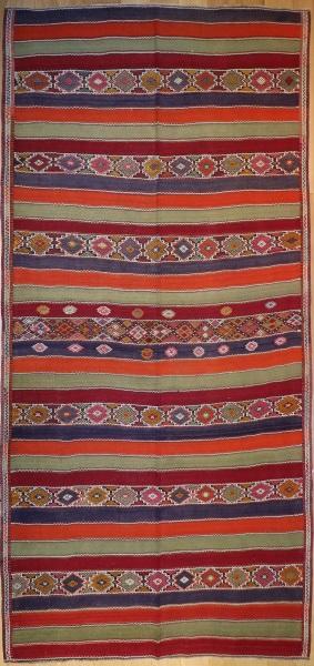 R7875 Vintage Turkish Sivas Kilim Rug