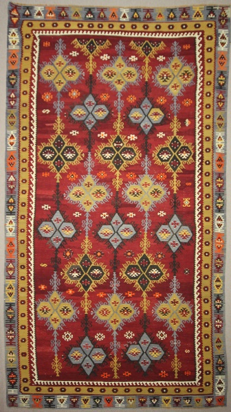Vintage Turkish Sivas Sarkisla Kilim Rugs At Lower Price