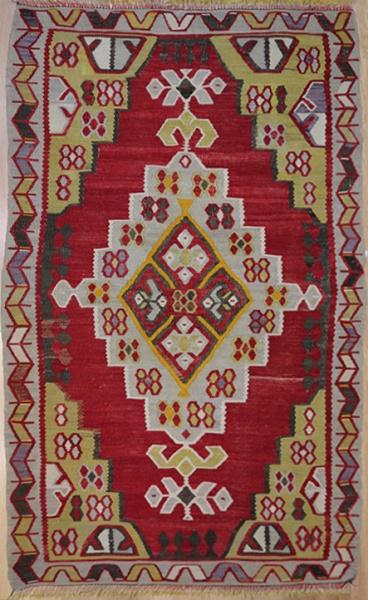 R1583 Vintage Ushak Turkish Kilim