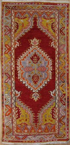 R2267 Vintage Ushak Turkish Rug