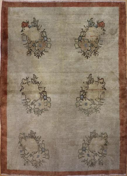 R3599 Vintage Ushak Turkish Rug