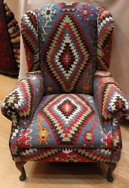 Antique Handwoven Wing Kilim Chairs Kilim Furniture