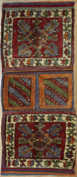 Wonderful Hand Woven Anatolian Carpet Saddle Bags R7959