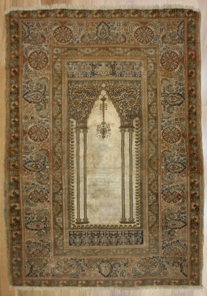 R7760 Antique Turkish Ghiordes Rug
