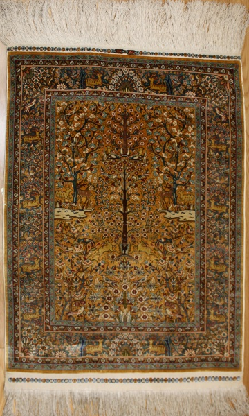 Wonderful Turkish Hereke Silk Carpet R7997